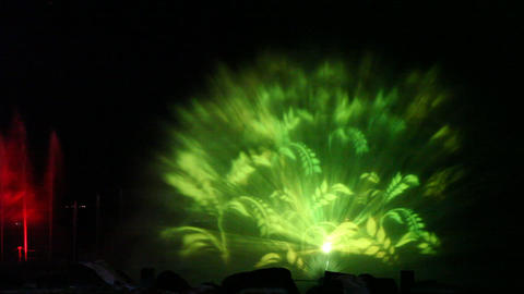 Tiberium musical light water show on the Sea of Ga Footage