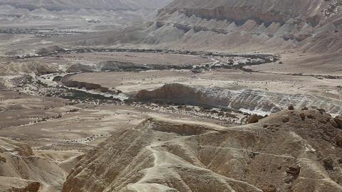 The Wilderness Of Zin Desert In The Negev District stock footage