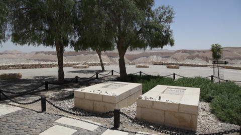 Graves of Pola and David Ben Gurion, the first Pri Footage