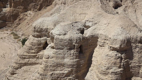 Qumran caves where Dead Sea Scrolls were found Footage