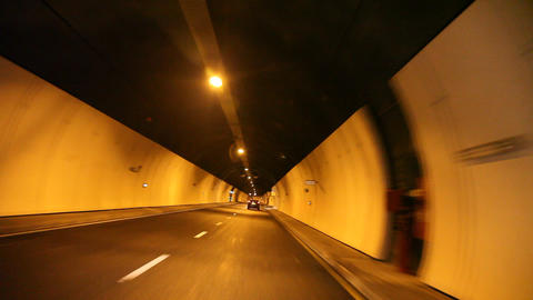 Driving in a tunnel Footage