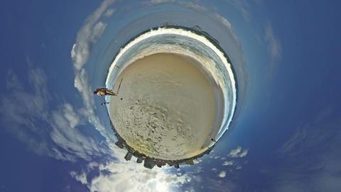 4K UHD People Play Football In Ipanema Beach Rio D stock footage