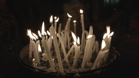 4K UHD Candles with flames Footage