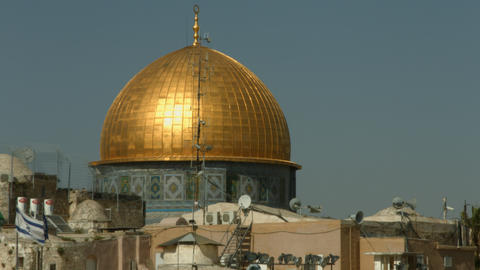 4K UHD Temple Mount Dome of the Rock Footage