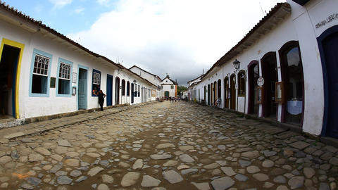 Street in Paraty, Brazil, FULL HD Footage