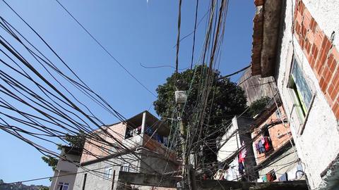 Kite In Favela Rocinha, Rio De Janeiro, Brazil FUL stock footage