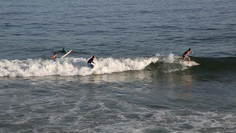 Surfing on the waves Footage