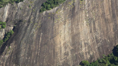 Brave rock climbers on a steep slope Footage