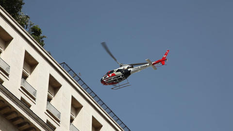 Military Police helicopter landing in action in Sa Footage