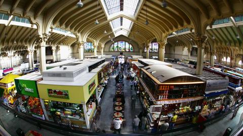 Sao Paulo Municipal Market Brazil time lapse Footage