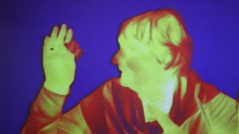 Infrared radiation thermal imaging camera of a wom Live Action