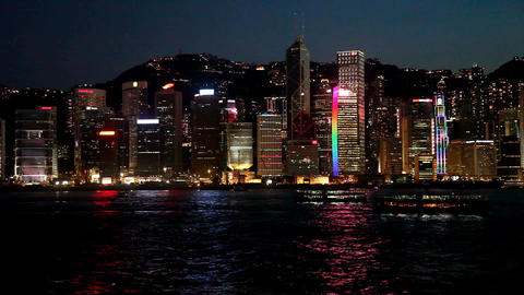 Hong Kong light show time lapse Footage