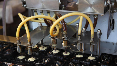 Conveyor bakery muffin Footage