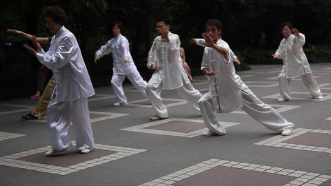 Tai Chi in the park Footage