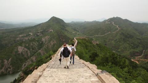 Great wall at Simatai, China Footage
