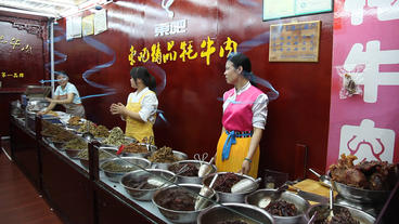 Yak Meat Store, China stock footage