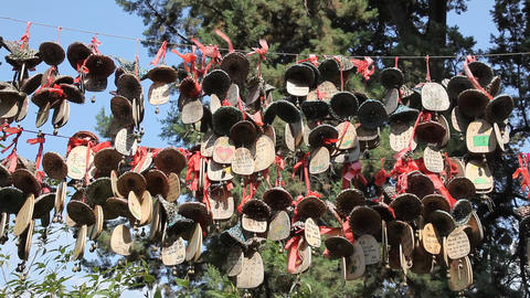 Wishing Bells - Lijiang, China stock footage