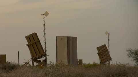 The Anti Missile System Iron Dome stock footage