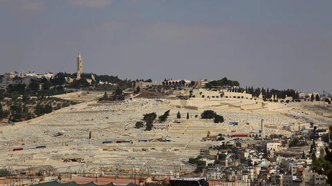 Mount of Olives Cemetery Footage