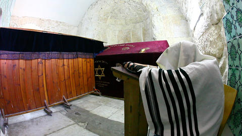 Prayer at King David's Tomb Footage