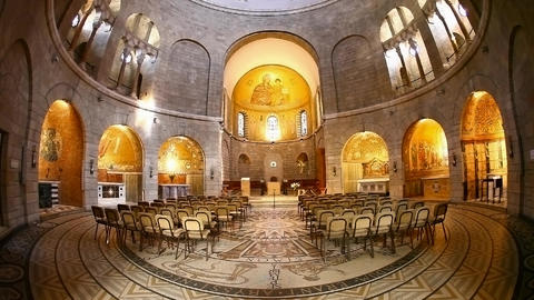 Basilica Church of the Dormition, Jerusalem Footage