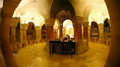 The Crypt at theBasilica Church of the Dormition,  Footage