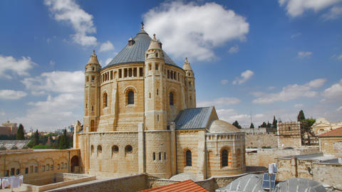 4K UHD Basilica Church of the Dormition, Jerusalem Footage