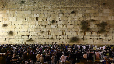 Prayers at the Western Wall in Jerusalem, Israel Footage