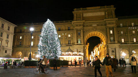 Florence Before Christmas stock footage