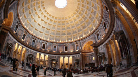 Rome: The Pantheon Time Lapse stock footage