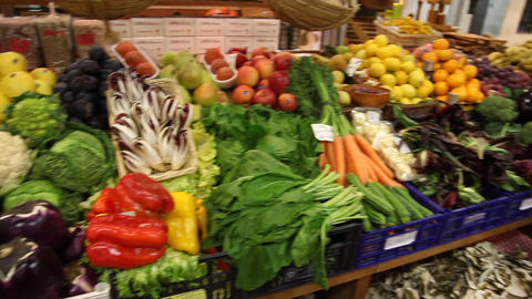 Vegetables in Italian Market Footage
