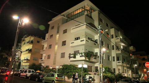 Skyline of Tel Aviv: Bauhaus style architecture Footage