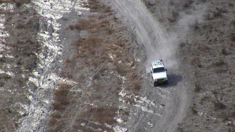 4x4 challenge on steep hill Footage