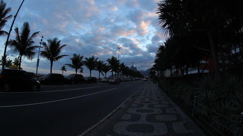 Avenida Atlantica, a major seaside avenue in Rio d Footage