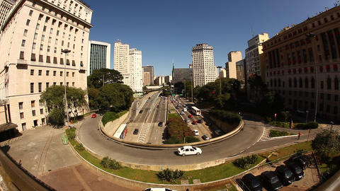 Intersection in Sao Paulo Footage