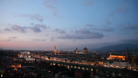 Florence at sunset Footage