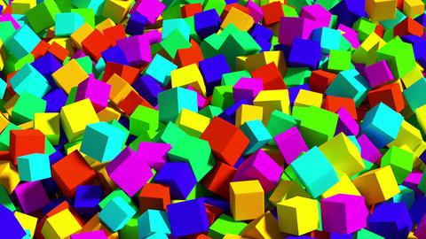 Falling colored cubes Animation