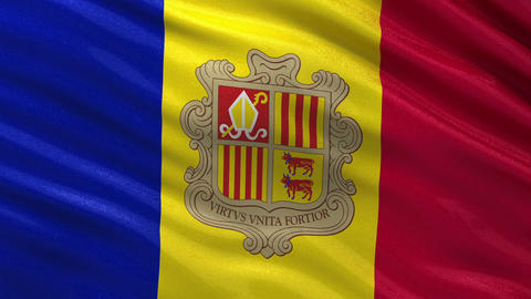 Flag of Andorra seamless loop Animation