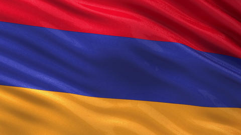 Flag of Armenia seamless loop Animation