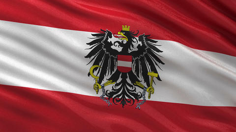 Flag of Austria seamless loop Animation