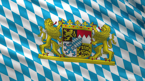 Flag of Bavaria seamless loop Animation