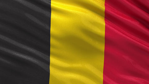 Flag of Belgium seamless loop Animation