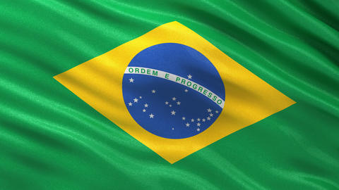 Flag of Brazil seamless loop Animation