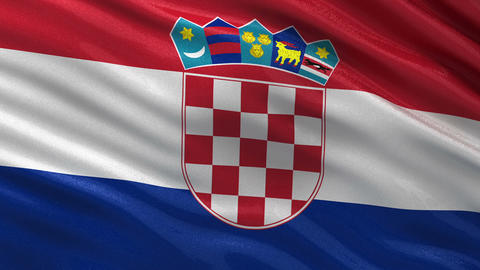 Flag of Croatia seamless loop Animation