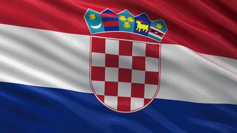 Flag of Croatia seamless loop Animation