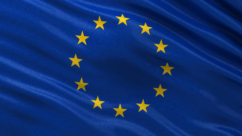 Flag of the EU seamless loop Animation