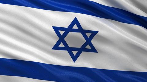 Flag of Israel seamless loop Animation