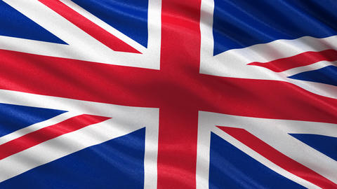 Flag of the UK seamless loop Animation
