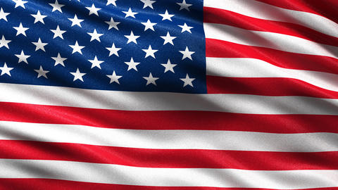 Flag of the USA seamless loop Animation
