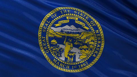 US state flag of Nebraska seamless loop Animation